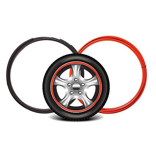 Maidian Wheel Hub Decorative Protection Ring Wheel Hub Stripe Automobile Decoration Scratch Prevention (2M/Item×4piece 8M