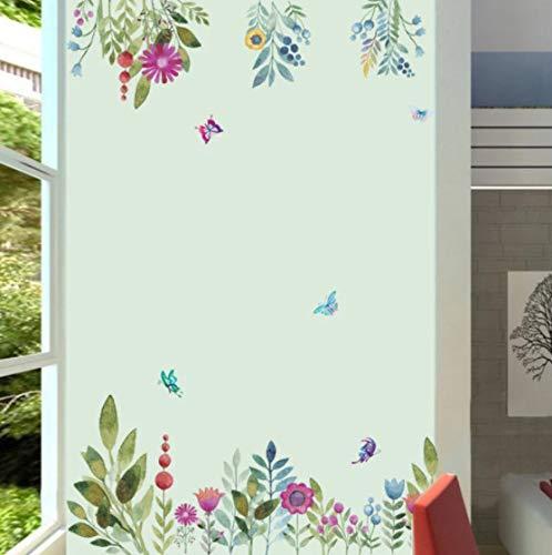 Estilo chino pintura de tinta flores pegatinas de pared decoración del hogar papel tapiz Fondo de sala de estar Mural arte calcomanías pegatinas