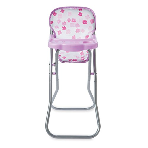 Manhattan Toy Baby Stella Blissful Blooms High Chair First Baby Doll Play Set for 12' and 15' Soft Dolls
