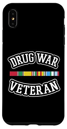 iPhone XS Max Veteran Shirt Drug War Tees Men Women Teens USA Freedom Gift Case