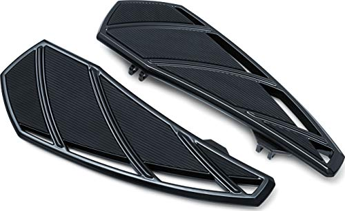 Kuryakyn 5793 Motorcycle Foot Control Component: Phantom Driver Floorboards for 1983-2019 Harley-Davidson Touring Motorcycles, Gloss Black, 1 Pair
