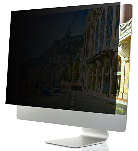 24-Inch Computer Privacy Screen Filter for Desktop Monitors (Diagonally-Measured); Anti-Glare Anti-Scratch Film; Protects Sensitive Confidential Data (24' Widescreen (16:9 Aspect Ratio))