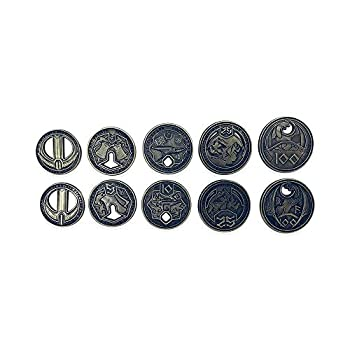 Norse Foundry Adventure Coins - 10 Piece Metal Adventure Coins for RPGs LARP Dungeons and Dragons and Live-Action Role Playing Games  Dwarven Variety Pack