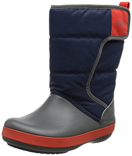 Crocs Unisex-Kinder LodgePoint Snow Boot K Schneestiefel, Blue (Navy/Slate Grey), 27/28