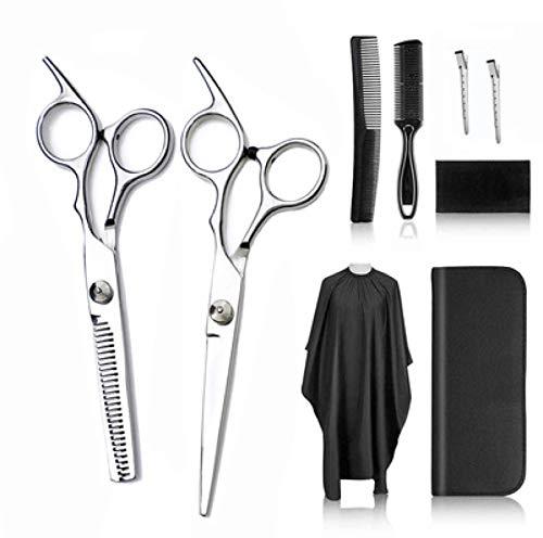 RGXY Kit de tijeras de corte de pelo, kit profesional de tijeras de peluquería con tijeras de acero inoxidable, peine, cabo y clips, juego de tijeras de corte de pelo para Baber, Salón y Hogar