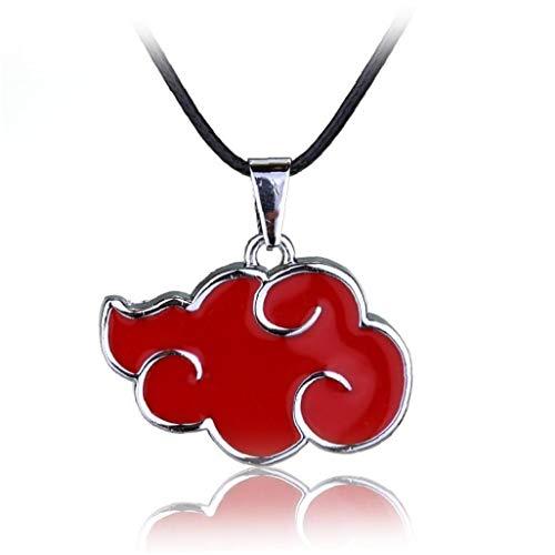 Zonfer 1pc Unisex Nubes Moda Cadena Larga Pendiente De La Forma De La Nube Rojo De La Historieta Collar Colgante De Hip Pop Calle Gargantilla Joyería Y Accesorios