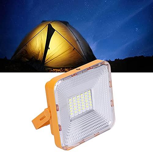 Luz de trabajo solar, sin parpadeo Lámpara de camping solar para picnic para acampar