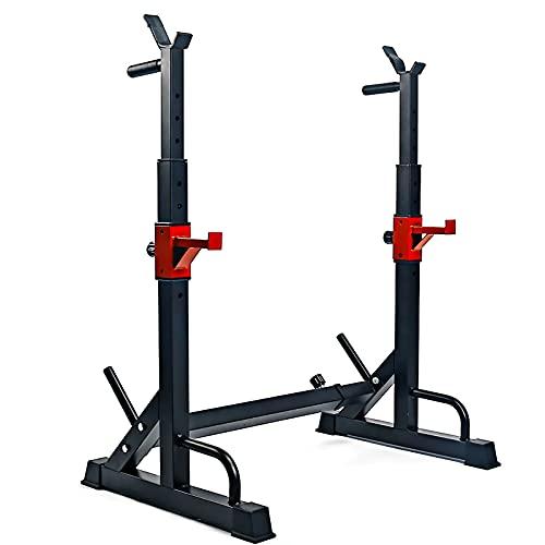 ASHLGQB Soporte Ajustable para Barras De Pesas Estante Soporte Multifuncional, Squat Rack Stand Gym para Fitness, Soporte Olímpico para Sentadillas, para Entrenar En Casa, Máx 260kg