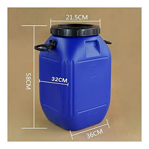 Fried Elaboración de la Cerveza 50L de Gran Capacidad Barril de plástico Envase de plástico de Calidad alimentaria fermentador de Tanque de almacenaje del hogar Bolso versátil (Color : Blue Black)