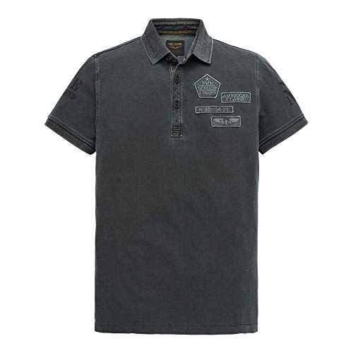 PME Legend Short Sleeve Polo Rugged Pique Pig, Dark, dunkel-blau((5287)), Gr. L