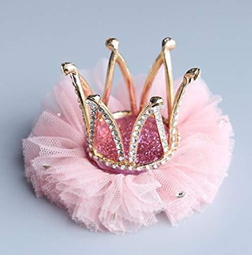 Printemps nouveau cerceau de cheveux clip de couronne pour enfants-rose foncé