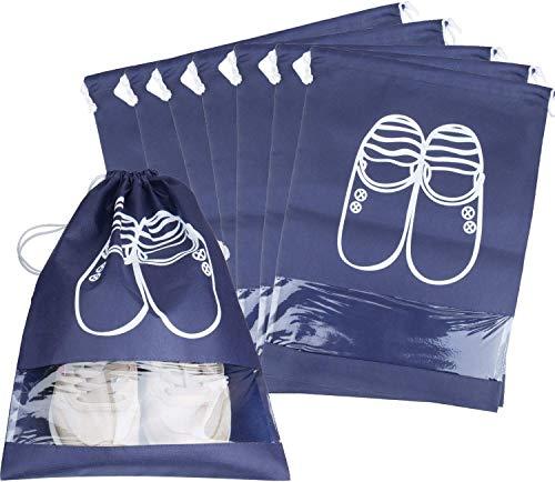10 Pcs Bolsas de Zapatos, Joeyer Zapatos Bolsa de Almacenamiento Multifunción a Prueba de Polvo para Viajes con Ventana Transparente