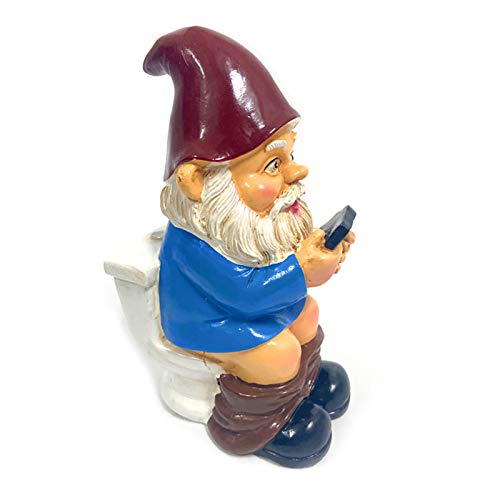 Neihan Garden gnome statue,Garden decorations dwarf resin crafts cartoon dwarf statue decoration(Multi-6)