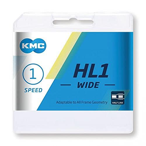 KMC Cadena HL1 Wide Plata 1/2 x 1/8, 100 eslabones, 9,4mm