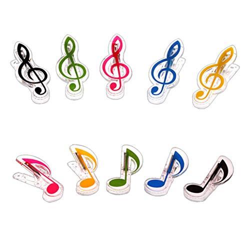 Celerfank Strong Wind Klavier Musik Noten Clips Kunststoff Clips Spectrum Lese-Clips Zubehör für Musikinstrumente mit Plektrum, Schwarz
