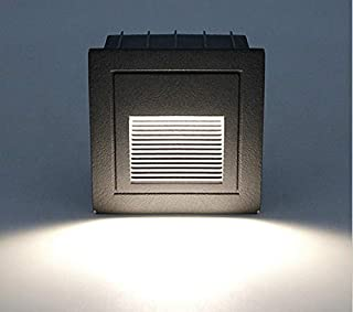 Wlnnes 2W Square Led Stair Step Lamp Footstep Recessed Into Ground Wall Light Spotlight Stairs Light 9cm Led Indoor Home S...