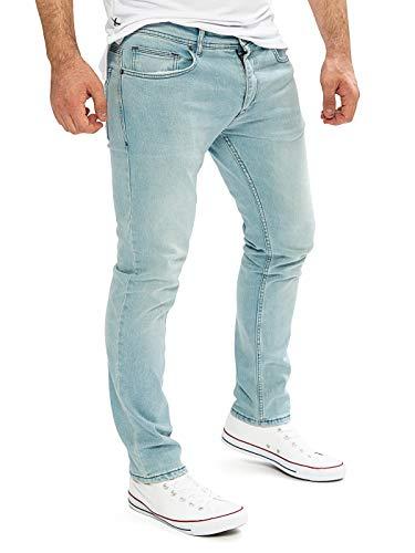 WOTEGA Jeans Herren Alistar Slim fit - hellblaue Stretch Jeanshose - Blaue Hose hell für Männer, Blau (Cloud Blue 144306), W32/L32