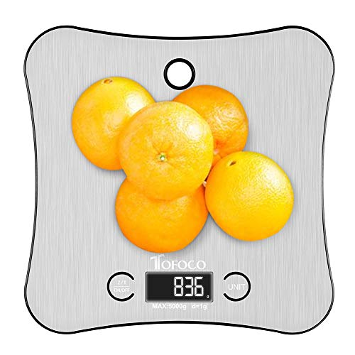 Digital Kitchen Food Scale Weight Grams and OZ for Cooking Baking Diet, New Hanging Design w/Stainless Steel Platform LCD Display(11lb/5kg Capacity, 0.05 Ounces/ 1 Grams Increment)- Home Gift Ideas
