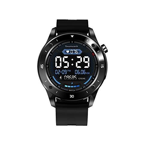 """JINPX Smartwatch,Reloj Inteligente IP67 con 1.3"""" Pantalla Táctil Completa,Presión Arterial,Podómetro,Monitor de Sueño,8 Modos de Deportes y GPS,Pulsera Actividad Inteligente para Hombre Mujer"""