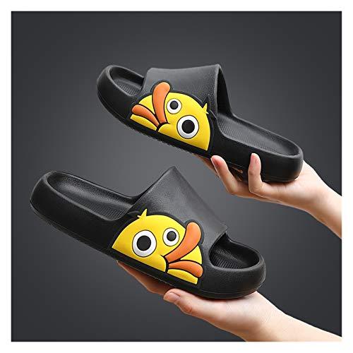Hong Yi Fei-Shop Pantuflas Sandalias y Zapatillas para Damas del hogar Verano DE Ropa Interior y al Aire Libre en el hogar Baño Baño Soft Soft Support Shoes PVC PLÁSTICO Zapatillas de Playa Sandalias