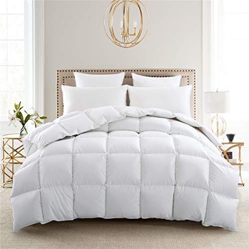 puredown Lightweight Light Warmth Duvet Insert Down Comforter, King, White
