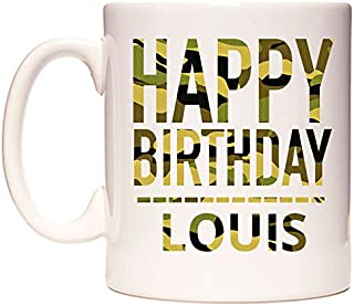 Happy Birthday Louis (Camo) Taza por WeDoMugs®