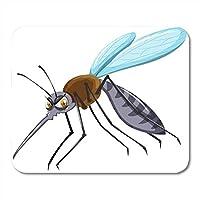 マウスパッドクリップアート野生の蚊に危険な平均動物のバグノートブック、デスクトップコンピューター、マウスマット、事務用品用の肉食マウスパッド