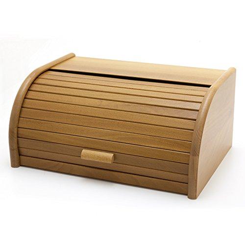 Brotkasten Brotbox mit Rollklappe Holzfee BK-40 Eiche