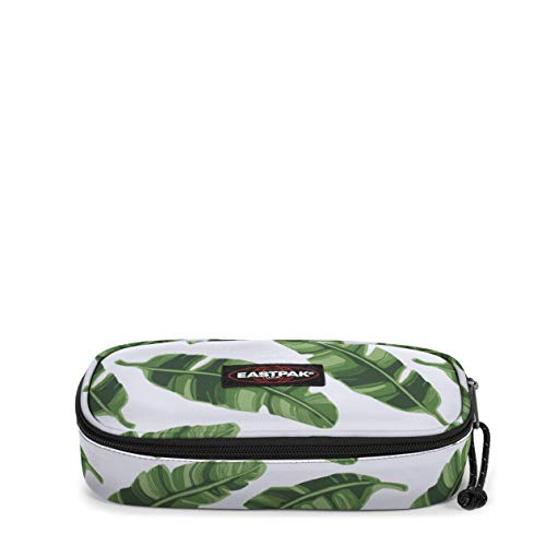 Eastpak Oval Single Astuccio, 22 cm, Bianco (Brize Leaves Natural)