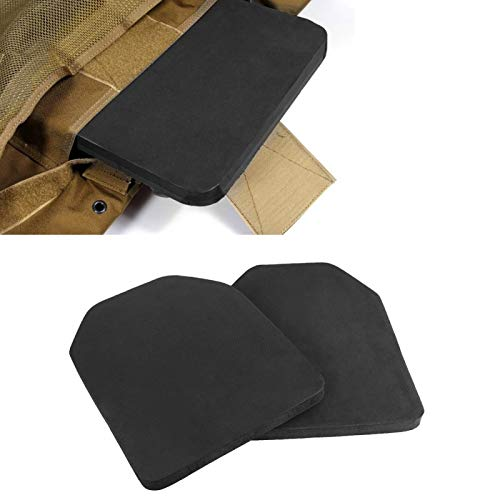 2 almohadillas protectoras Airsoft, almohadilla protectora EVA, almohadilla protectora para chaleco, material EVA, negro, liviano y portátil, mano de obra exquisita, gran accesorio para Airsoft y Pain