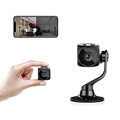 Mini Camera-4K Spy Camera Home Camera with Night Vision Smart Wireless with Audio and Video Nanny Cam Suitable for Hotel/Residence/Office/Outdoor/Pet Cat Dog Cam,Phone APP HD Hidden Cameras
