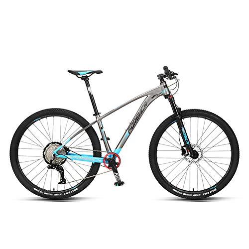 JKCKHA Sport- Und Experten-Mountainbike Für Erwachsene, 29-Zoll-Räder, Aluminiumlegierungsrahmen, Starres Hardtail, Hydraulische Scheibenbremsen, All-Terrain-Mountainbike, Mehrere Farben,Blau