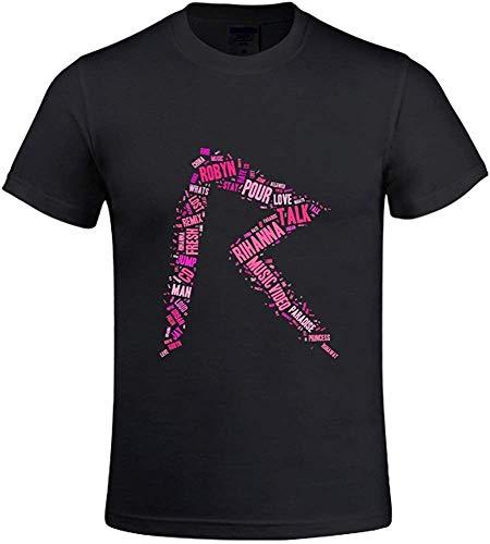 NR Tagxedo Rihanna Logo Men Printed T Shirts O Neck -XXXL