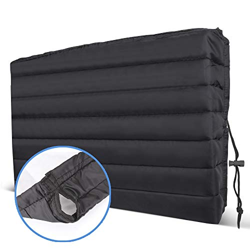 Jumpshot Lifestyle Air Conditioner Cover Indoor with 2 Holes for AC Unit Cable, Window Air Conditioner Cover with Adjustable Straps, Wall Air Conditioner Cover with Double Insulation 21x13x2.5 Inch