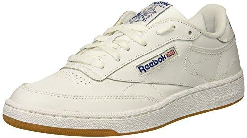 Reebok Men's Club C 85 Fashion Sneaker, White/Royal-Gum, 11 M US