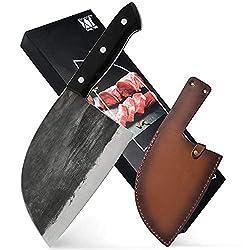 Image of Full Tang Butcher Knife...: Bestviewsreviews