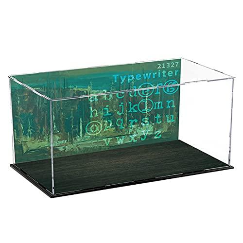 MBKE Acrylic Vetrina Display Case per LEGO 21327 Ideas Macchina da scrivere, 3mm Antipolvere Showcase Box Display Case Compatibile con Lego 21327