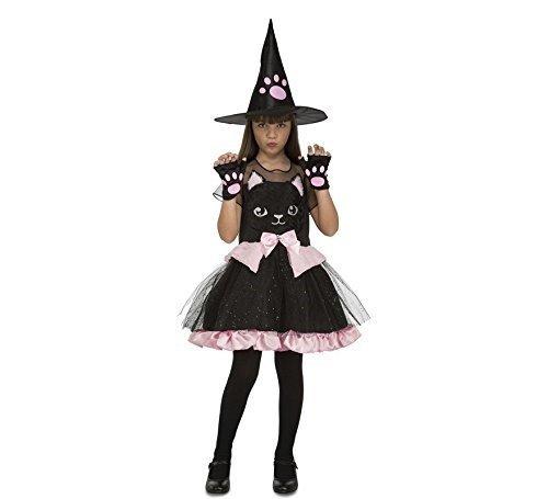My Other Me Me-204018 Disfraz de bruja gatito para niña, color rojo, 5-6 años (Viving Costumes 204018)
