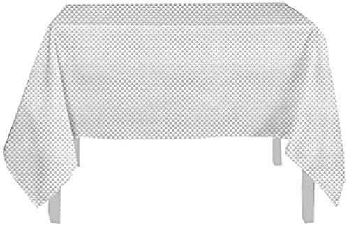 Soleil d'ocre Nappe Anti-tâches 180x180 cm Palmier Gris, Polyester
