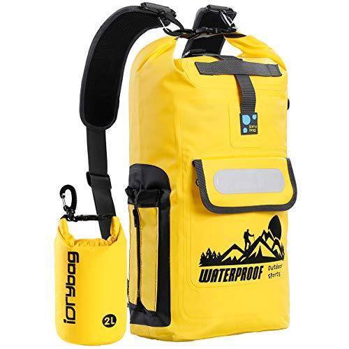IDRYBAG Waterproof Backpack Floating Dry Bag, Dry Bag Backpack Waterproof 20L/30L, Roll Top Keeps Gear Dry for Kayaking, Boating, Rafting, Swimming, Hiking, Camping, Travel, Beach