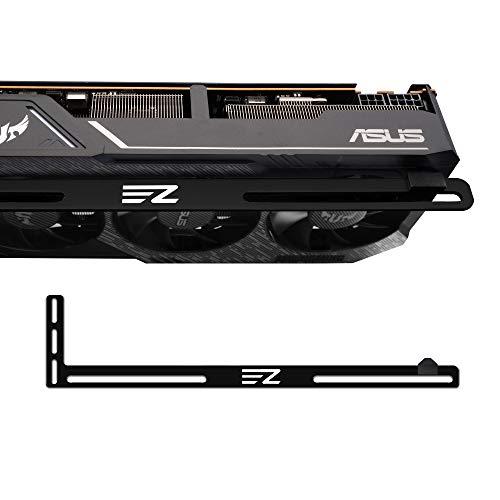 EZDIY-FAB Grafikkartenhalterung Unterstützung. EIN Grafikkartenhalter, GPU VGA-Klammer, für Benutzerdefinierte Desktop PC Gaming. EIN GPU Standgehäuse mod- 3mm Aluminium-Schwarz
