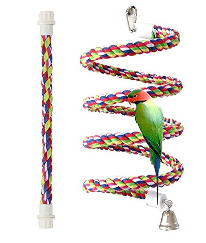 Petsvv Rope Bungee Bird Toy, Small