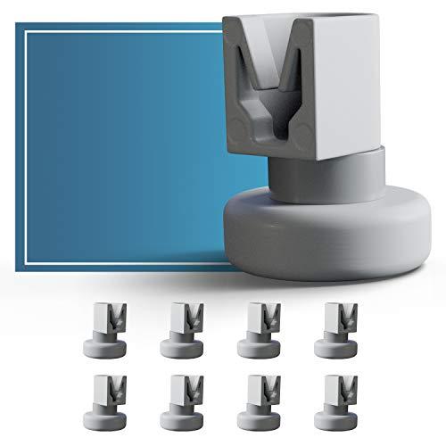 Set di rotelle lavastoviglie cestello Plemont [cesto superiore] - rotelle lavastoviglie rex electrolux - universale adatte a molte cestello lavastoviglie - ricambi lavastoviglie rex