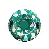 Aufblasbare Ski Kreis Rund Ski Ring PVC Wear-Resistant kältebeständigem Schneerohr für den Winter...