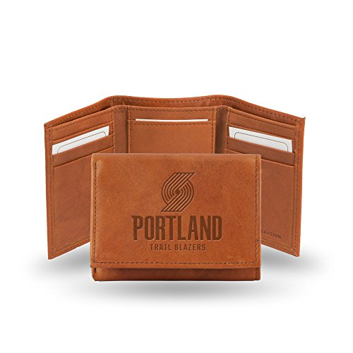 NBA Rico Industries Embossed Leather Trifold Wallet, Portland Trail Blazers