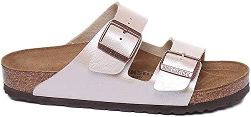 BIRKENSTOCK Womens Arizona Graceful Pearl White Birko-Flor Sandals 40 EU
