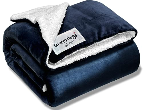 Warm HUGS Always - Super Soft All Season Sherpa Fleece Throw Blanket. A Cozy Thinking of You Gift for mom, Women, Men, Teens, College Students, Birthdays. Send Warm hugs to The Ones You Love.(50x60