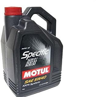 Motul Specific 505 01 502 00 505 00 - 5W40 5L (Pack of 2)