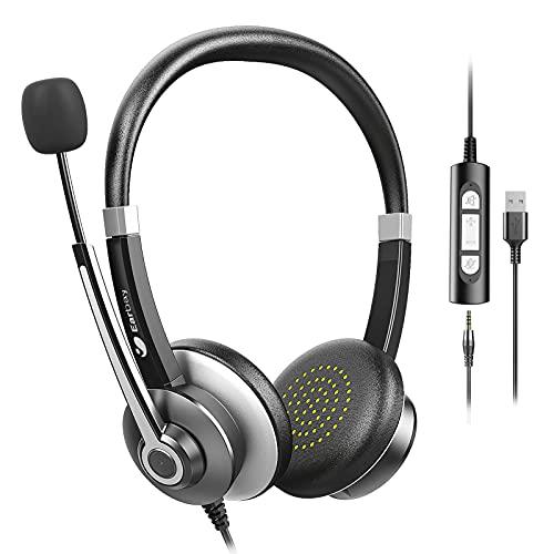Earbay Auriculares Con Micrófono Con Micrófono Con Cancelación De Ruido Para Pc,...