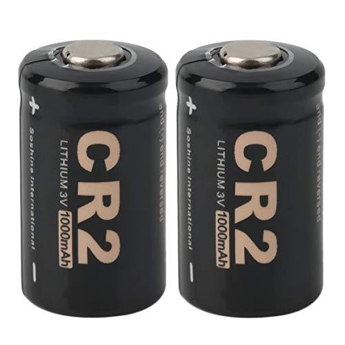 2pcs CR2 3.0V 1000mAh Batterie Rechargeable capacité maximale fiabilité Circuit intégré de sécurité avec étui pour Soshine - Noir
